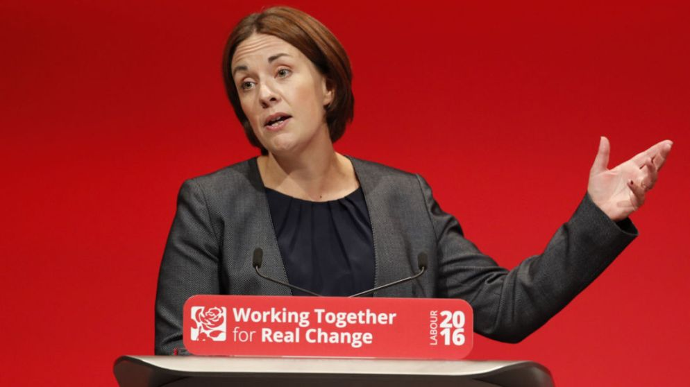 Kezia Dugdale the leader of the Scottish Labour Party speaks at the Labour Party conference in Liverpool