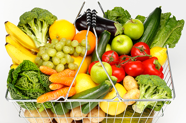 Fruit-and-vegetables-five-a-day-shopping-basket