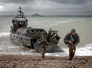 Royal Marines Young Officers Conduct Beach Landing Exercise